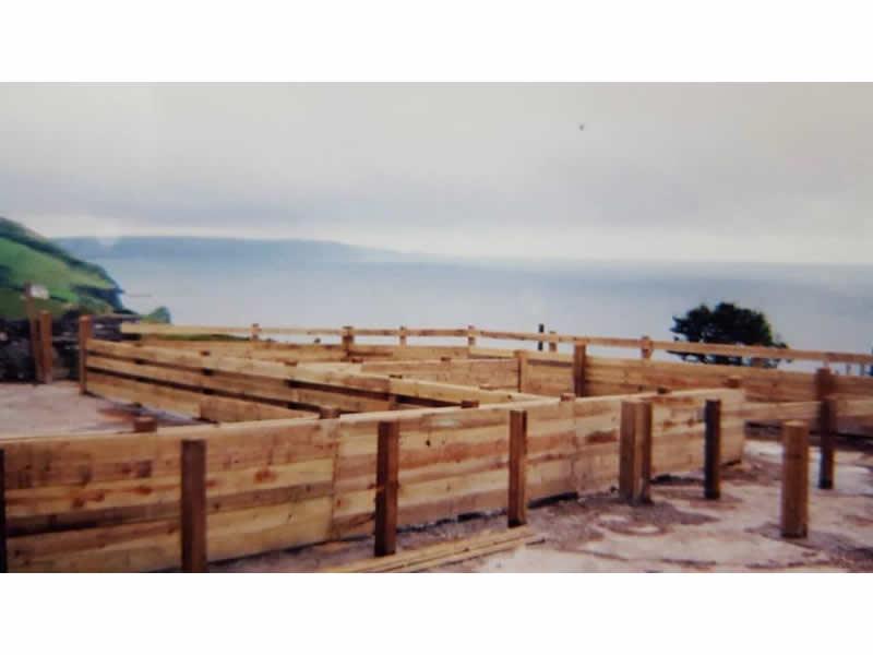 Preparing decking base