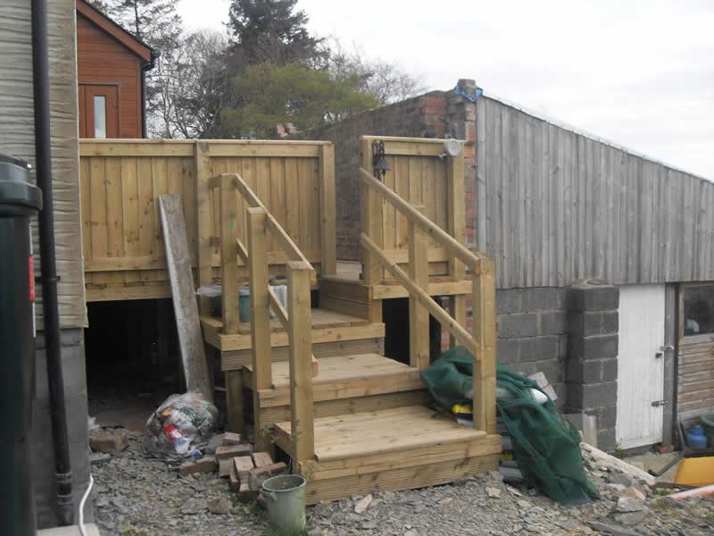 steps to decking
