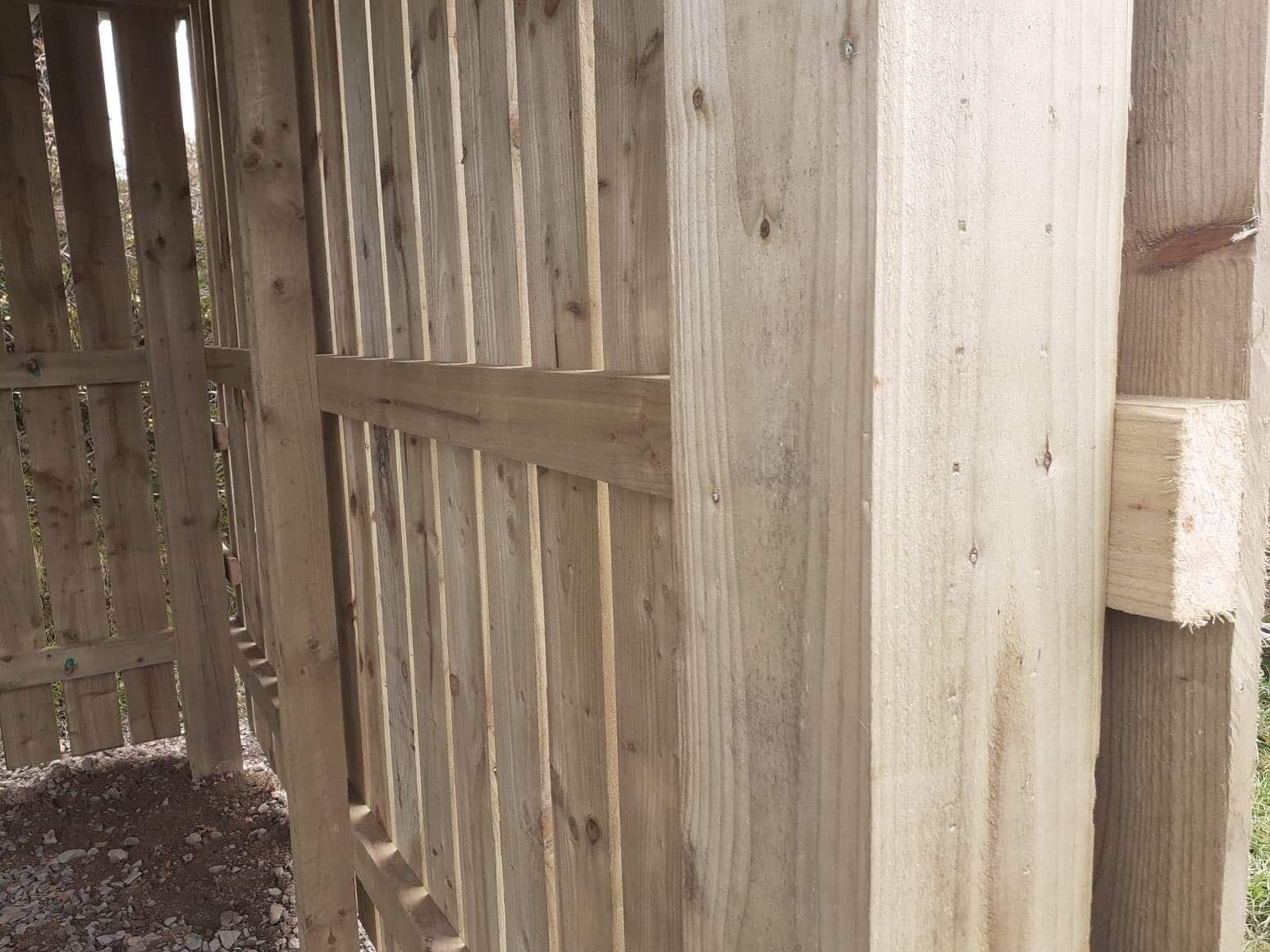 Close look at the wooden panneling